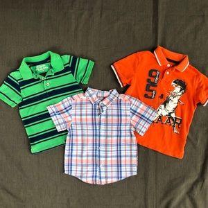 Boys Summer Shirts Lot